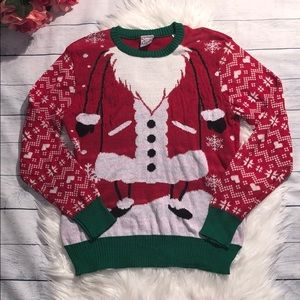 NWT Well Worn Santa Ugly Christmas Holy Sweater